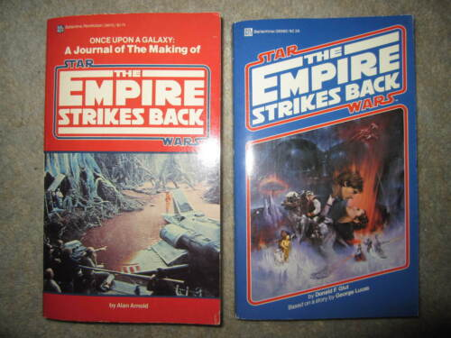 PB Star Wars books, Once Upon A Galaxy & The Empire Strikes Back, 1980 1st eds.