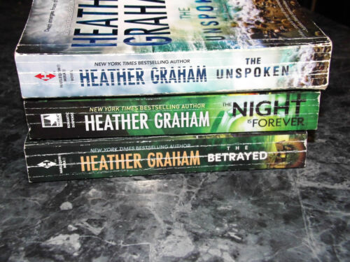Heather Graham lot of 3 Krewe of Hunters Series Paranormal romantic suspense