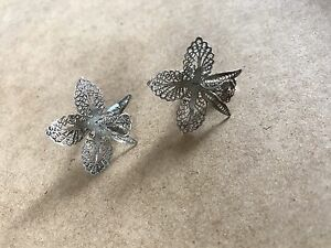 Filigree orchid earrings Brighton Brisbane North East Preview