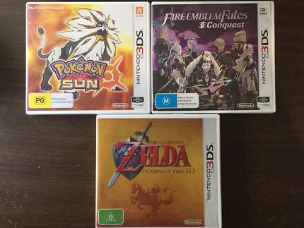 $40 each - Nintendo 3DS Games - Zelda - Fire Emblem - Pokemon Sun