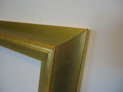 Bilderrahmen 20x24cm gold Relief Holz Rahmen für Keilrahmen Leinwand geeignet (20x24 Bilderrahmen Gold)