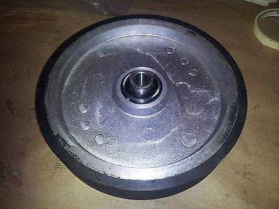 "10"" Belt sander contact  wheel Knife making with bearings for 2"" belt 1/2"" shaft"