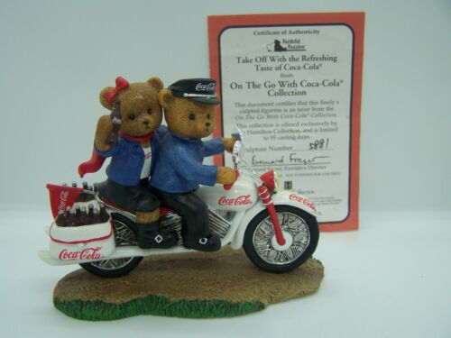 """On the Go With Coca Cola """"ALONG THE HIGHWAY TO ANYWHERE"""" Bears, motorcycle #5881"""