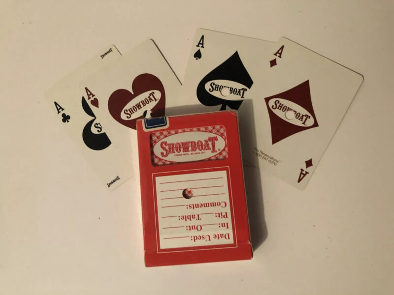 Gemaco Casino DECKS Playing Cards vintage PreOwned Hole Punched Showboat