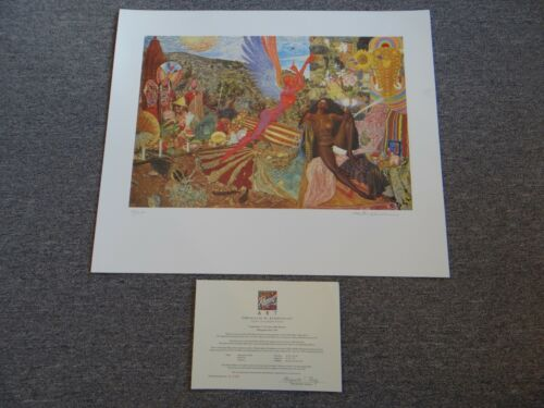 """SANTANA """"Annunciation"""" Lithograph Print Hand Signed By Artist #138/200"""