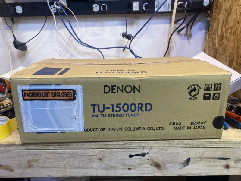 Denon TU-1500RD FM-AM Tuner with RDS Text Brand New In Box