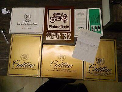 1982 Cadillac Shop Manual,Service Manual,Werkstatthandbuch KOMPLETT-SET,NOS-GM !