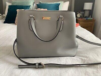 Kate Spade New York Grey Leather Bag