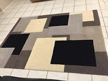 Spotlight Rug 160 x 220cm Grey Black White Square Floor Mat Bow Bowing Campbelltown Area Preview