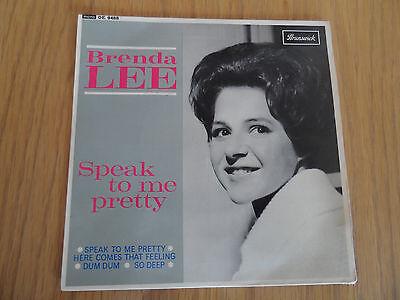 """BRENDA LEE - SPEAK TO ME PRETTY 7"""" EP BRUNSWICK MONO OE 9488"""