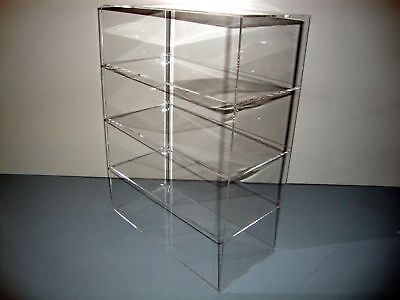 Acrylic Lucite Countertop Display Case Showcase Box Cabinet 12 X 4 X 16