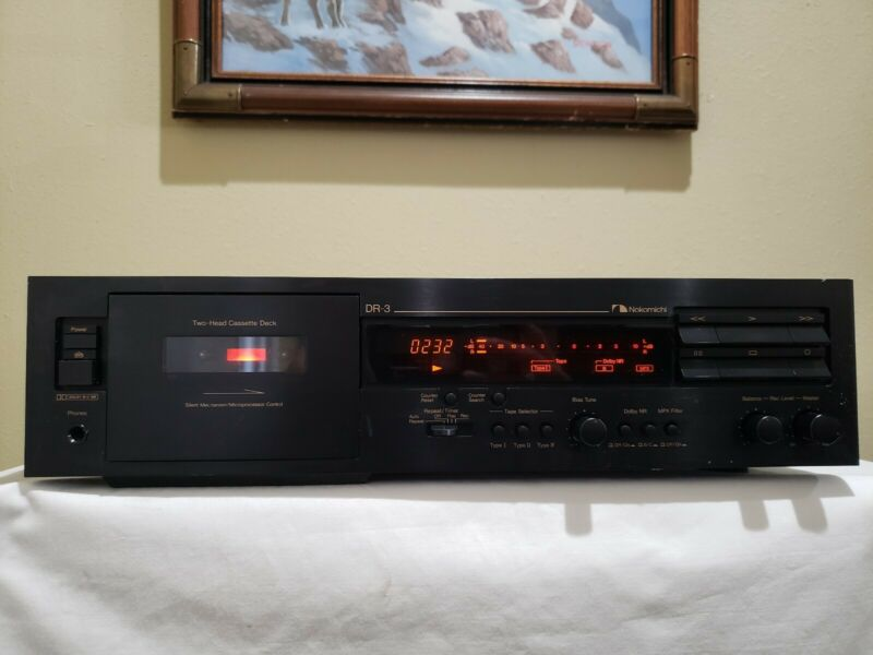 Nakamichi DR-3 Cassette Deck. Excellent condition, working well!