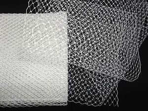 Birdcage Veil Russian Veiling Millinery Hatmaking Netting Tulle White BTY $12/yd