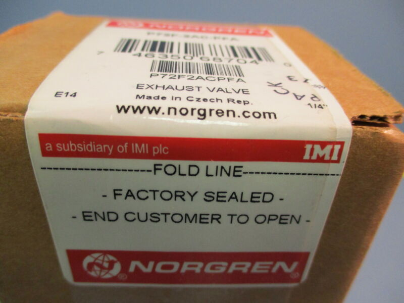 Norgren Excelon P72F-2AC-PFA Air Line Smooth Start / Exhaust Valve