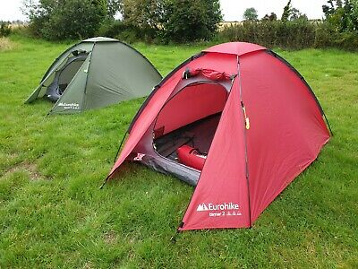 Eurohike Tamar 2 - two person camping backpacking tent family lightweight RED