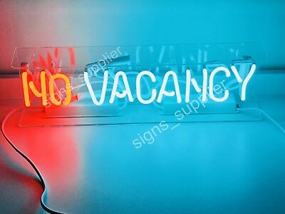 "New No Vacancy With On/Off Switch For Word No Handmade Acrylic Box Neon Sign 15"" for sale  Shipping to Canada"