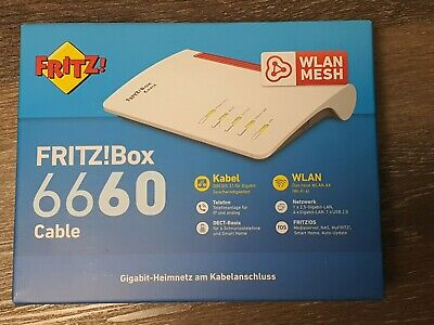AVM FRITZ!Box 6660 Cable DOCSIS-3.1-Kabelmodem WLAN AX Wi-Fi 6 2,5 GB-LAN-Port