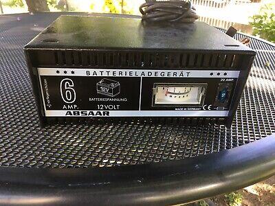 ABSAAR 6V 12V, KFZ Batterie Ladegerät 6A Typ 106 N+E PKW