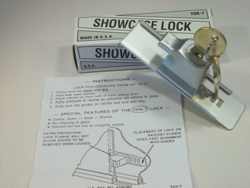 TDK-7 Stick-On Showcase Lock Key #60