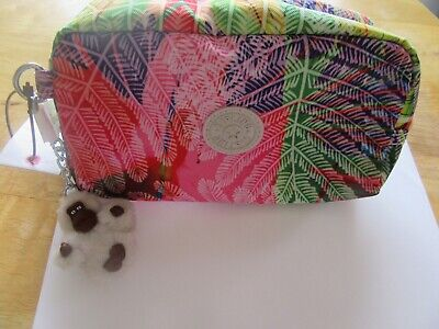 Kipling Yvonne Cosmetic/Make-Up Case- leaves-colorful- Katie morning