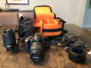 Nikon D5000 camera package with 2 lenses - great condition