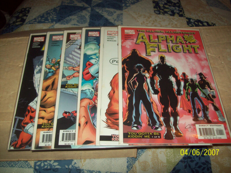 ALPHA FLIGHT (3RD SERIES) #1, 2, 3, 4, 6, 7, 9,