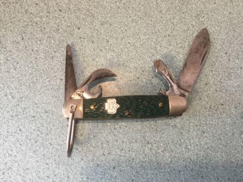 "Vintage 1970's Girl Scout Kutmaster ""Utica NY"" Folding Pocket Knife in Green"