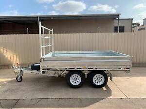 10X7 COMMERCIAL GALVANISED FLAT TOP TRAILER WITH BRAKES AND RAMPS Pooraka Salisbury Area Preview