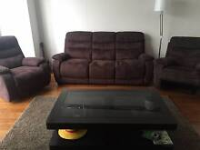 Coffee Table with Glass top and Dark wood in great condition Homebush West Strathfield Area Preview
