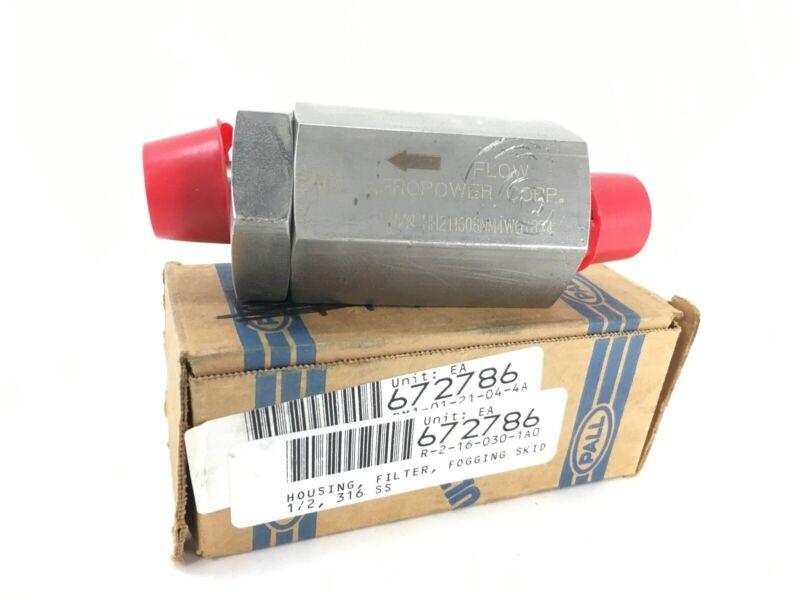 "Pall Aeropower Hh211608Nm4W0Yr74 1/2"" 316 Ssskid Fogging Filter Housing - New"