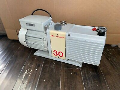 Edwards Model E2m-30 Single Phase Dual Stage High Vacuum Pump W 1-12 Hp Motor