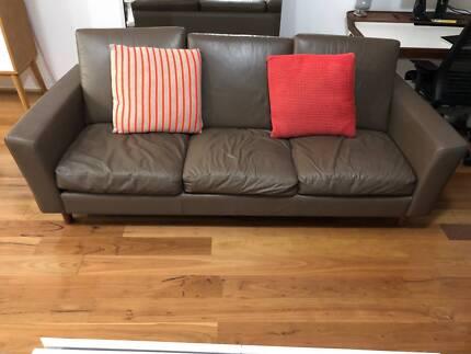 Moran leather sofa