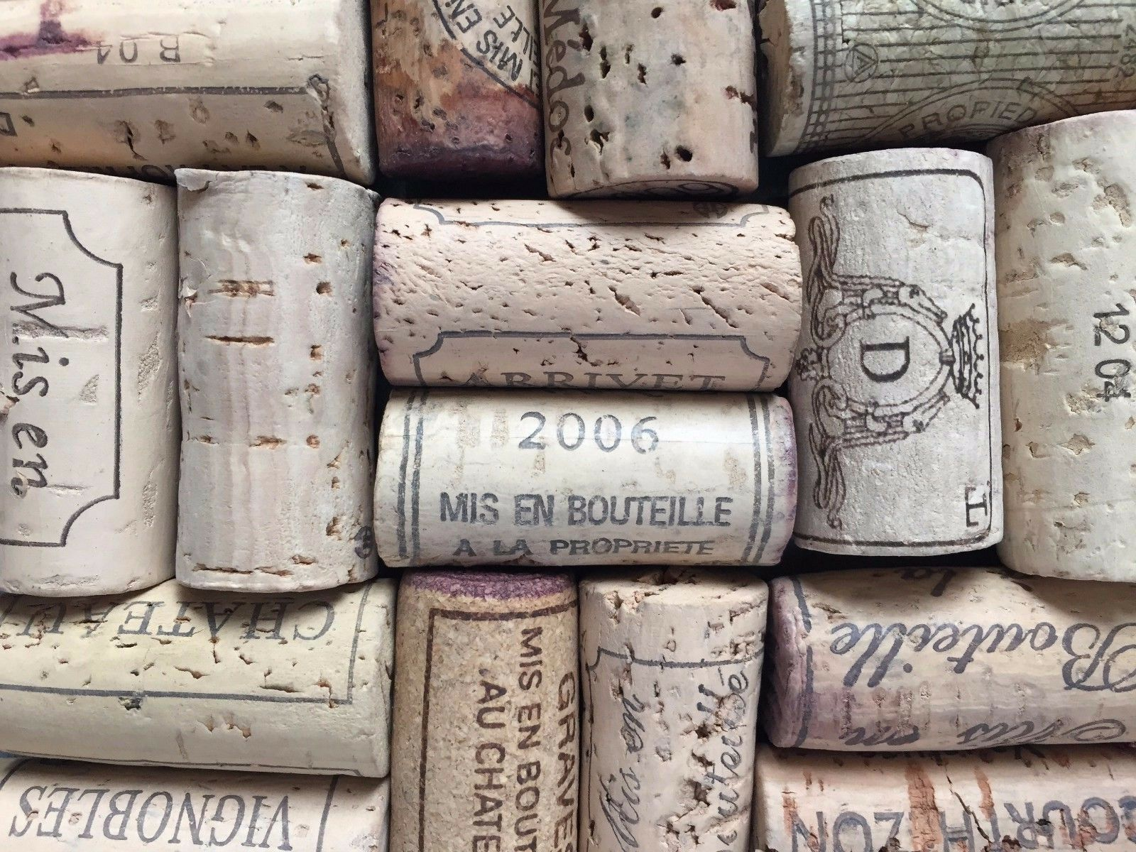 HIGH END Lot of 50 Wine Corks USED All Natural No Synthetic Crafts MAY VARY