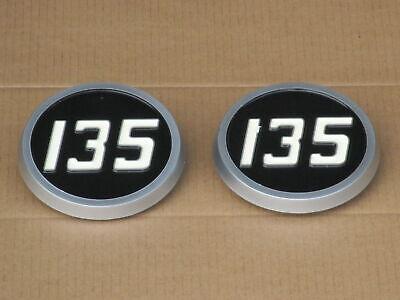 2 Plastic Medallion Hood Emblems For Massey Ferguson Mf 135 Uk