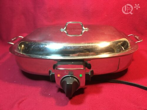 All-Clad Deluxe 6 Quart Electric Skillet #6701 Stainless Steel
