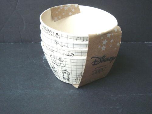 NEW DISNEY Set of 4 Sketch Tidbit Bowls Bamboo  Mickey Minnie Goofy Donald