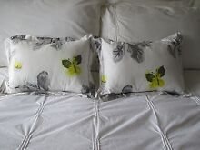 LEMON & GREY COLOURED CUSHIONS Cremorne North Sydney Area Preview