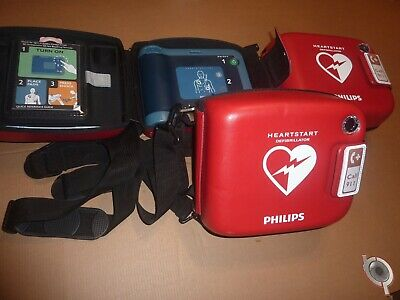 Philips Heartstart Frx Aed Defibrillator With Child Key Pads Case