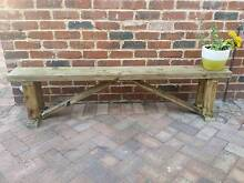THE GREEN LOFT - RUSTIC WOOD BENCH SEAT Leederville Vincent Area Preview