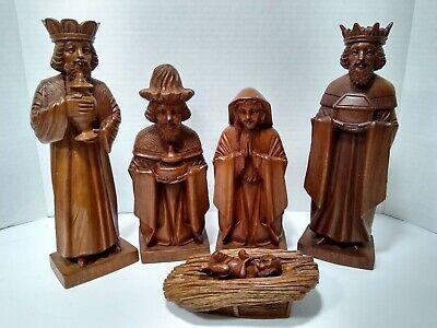 Nativity Set for Women ~ Carved wood Catholic Mary Christian Jesus *Missing Man