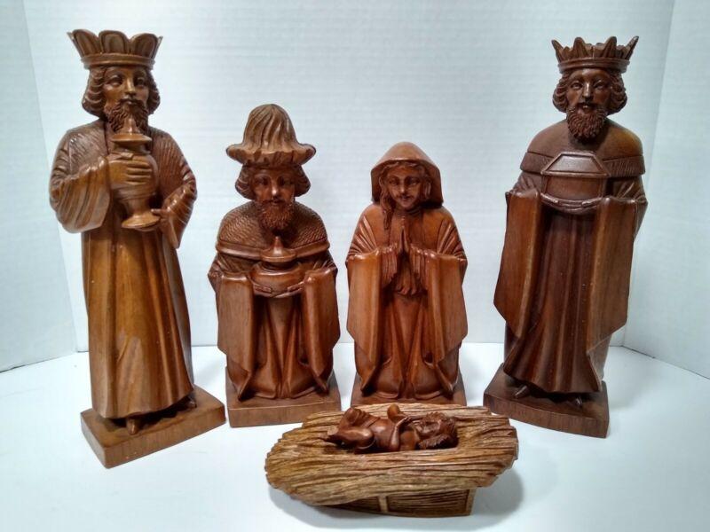 Nativity Set for Women ~ Carved wood Catholic Mary Christian Jesus