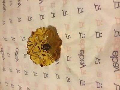"EXC CONDITION Victorian Style Amber Glass Curtain Tieback - 4.25""W x 3.125""L"