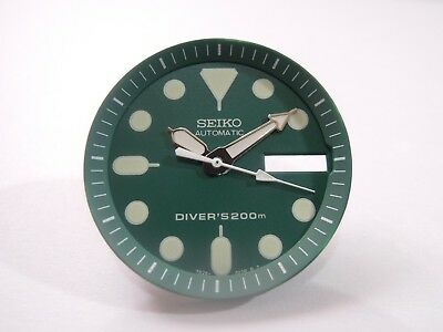 NEW REPLACEMENT SEIKO GREEN DIAL / HANDS FITS SEIKO SKX013 MEDIUM DIVER'S WATCH, used for sale  Shipping to United States