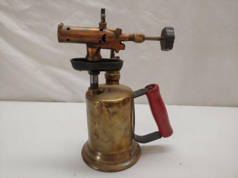 Antique C&L Clayton Lambert MFG Detroit Brass Blow Torch Blowtorch Welder