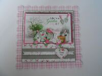 PK 2 LIFES A GARDEN THANK YOU EMBELLISHMENT TOPPERS FOR CARDS OR CRAFTS