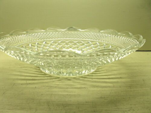 Vintage Anchor Hocking WEXFORD Clear Shallow Round Bowl 14 in. EUC