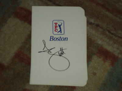 Adam Scott Deutsche Bank Signed Tpc Boston Scorecard Coa