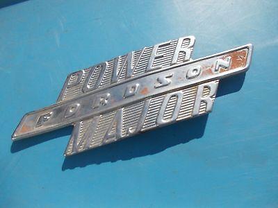 Fordson Major Power Diesel Tractor Original Chrome Hood Side Panel Emblem