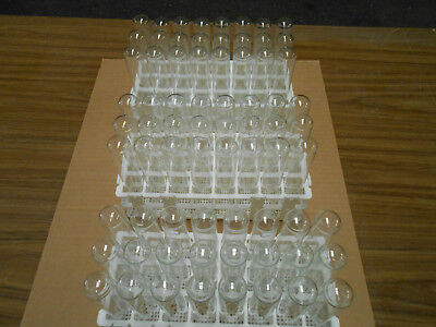 25x150mm Glass Test Tubes With Closures And Rack - 24 Tubes In Rack