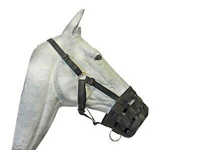 Pferdemaulkorb  Weidemaulkorb / Fressbremse  schwarz